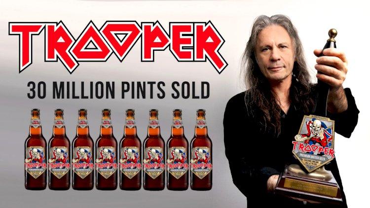 Iron Maiden e Robinsons Brewery comemoram o 8º aniversário da cerveja Trooper
